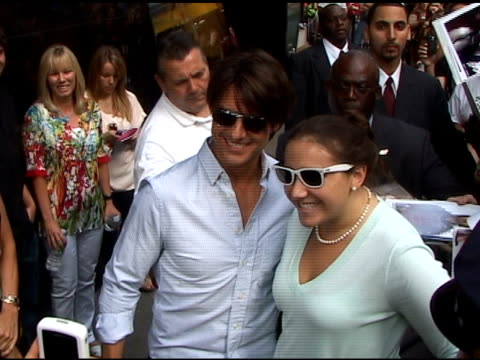 tom cruise outside good morning america at the celebrity sightings in new york at new york ny - good morning america stock videos and b-roll footage