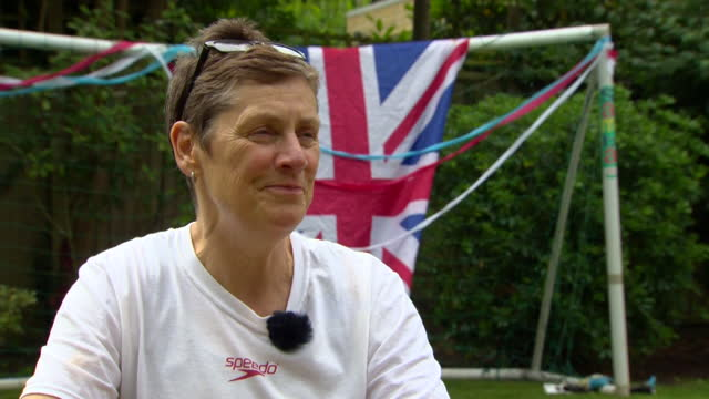 """tom dean's mother jacquie hughes saying """"i'm so thrilled to see his journey go as far you can imagine"""" after he won olympic gold in the 200m freestyle - cheerful stock videos & royalty-free footage"""