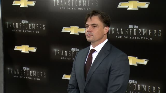 """tom desanto at """"transformers: age of extinction"""" new york premiere at ziegfeld theatre on june 25, 2014 in new york city. - new age stock videos & royalty-free footage"""