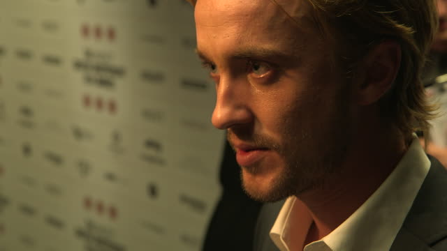 tom felton at british independent film awards winners interviews at old billingsgate market on december 9 2012 in london england - tom felton stock videos & royalty-free footage