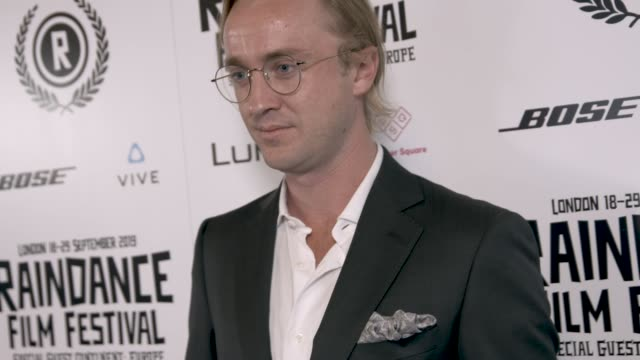 tom felton at raindance film festival opening gala at vue west end on september 18 2019 in london england - tom felton stock videos & royalty-free footage