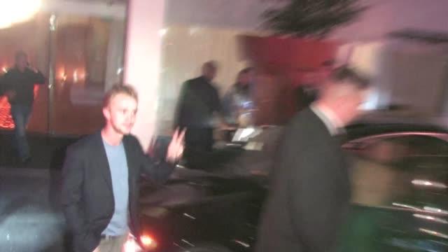 tom felton at skybar at the mondrian in west hollywood - モンドリアンホテル点の映像素材/bロール