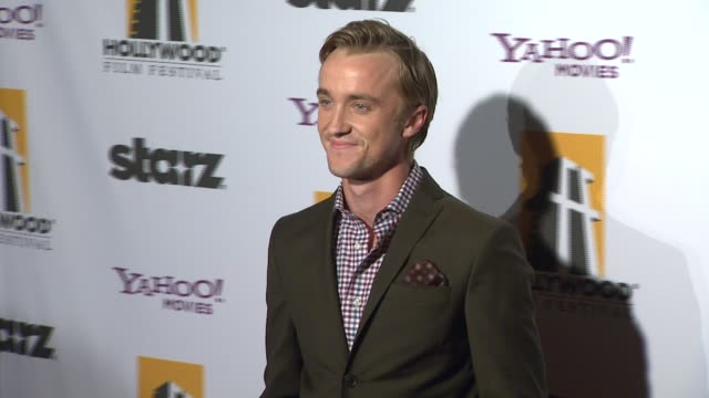 tom felton at the 15th annual hollywood film awards gala at beverly hills ca - tom felton stock videos & royalty-free footage