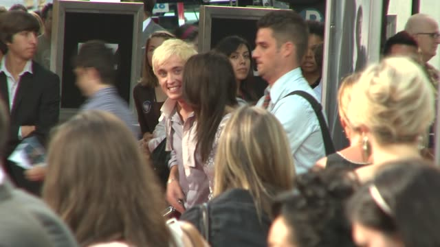 tom felton at the 'harry potter and the half blood prince' premiere at new york ny - tom felton stock videos & royalty-free footage