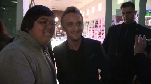 tom felton at the in secret premiere at the archlight in hollywood celebrity sightings in los angeles on in los angeles california - tom felton stock videos & royalty-free footage