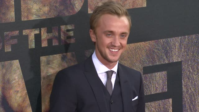 tom felton at the 'rise of the planet of the apes' premiere at hollywood ca - tom felton stock videos & royalty-free footage
