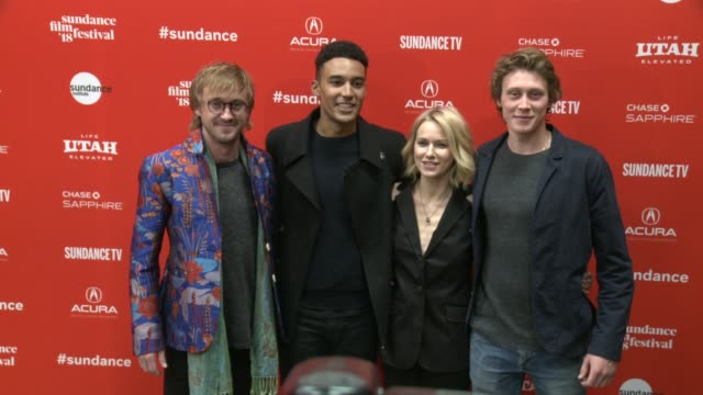 Tom Felton Devon Terrell Naomi Watts an George MacKay at the 'Ophelia' Premiere 2018 Sundance Film Festival at Eccles Center Theatre on January 22...