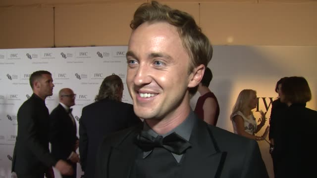 interview tom felton on clothing london film festival and his current filming schedule at the bfi london film festival iwc gala on 7th october 2014... - tom felton stock videos & royalty-free footage