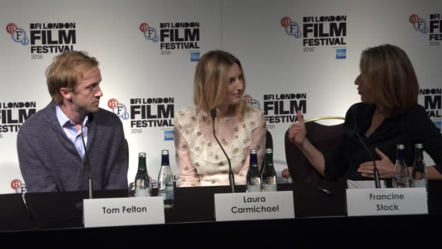 interview tom felton on his character rufus lancaster amma asante as a director at 'a united kingdom' press conference on october 05 2016 in london... - tom felton stock videos & royalty-free footage