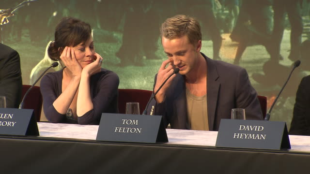 tom felton on the best and worse things working on the films his future plans at the harry potter the deathly hallows part 2 press conference at... - tom felton stock videos & royalty-free footage
