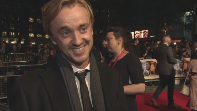 interview tom felton on the film opening the london film festival the importance of the film his character playing baddies working with amma assante... - tom felton stock videos & royalty-free footage