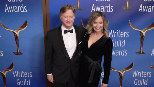 tom flynn and andi matheny at the 2020 writers guild awards at the beverly hilton hotel on february 01, 2020 in beverly hills, california. - the beverly hilton hotel stock videos & royalty-free footage