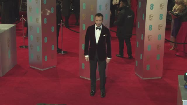 tom ford at ee british academy film awards at royal albert hall on february 12 2017 in london england - royal albert hall stock videos and b-roll footage