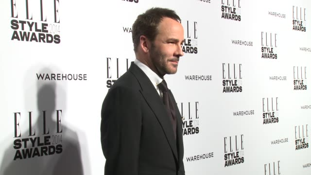 tom ford at elle style awards arrivals at one embankment on february 18 2014 in london england - embankment stock videos and b-roll footage