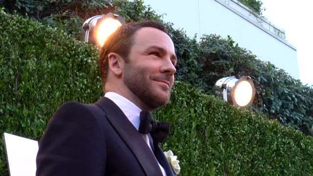 vídeos de stock, filmes e b-roll de tom ford at the 2013 vanity fair oscar party hosted by graydon carter tom ford at the 2013 vanity fair oscar party at sunset tower on february 24... - tom ford