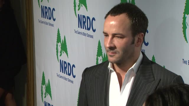 tom ford at the national resources defense council's 20th anniversary celebration at beverly hills ca - national resources defense council stock videos & royalty-free footage