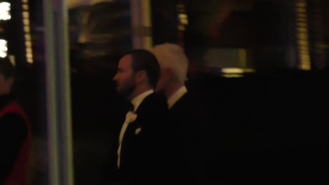 tom ford outside the vanity fair oscar party in celebrity sightings in los angeles, - oscar party stock videos & royalty-free footage