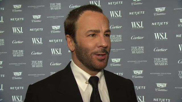 INTERVIEW Tom Ford talks about what it means to be innovative at WSJ Magazine Innovator Awards at MOMA on November 02 2016 in New York City