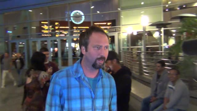 tom green and kat von d leave arclight theatre at celebrity sightings in los angeles tom green and kat von d leave arclight theatre at on july 30,... - トム グリーン点の映像素材/bロール
