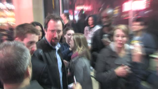 tom green arrives at the roosevelt hotel in hollywood at the celebrity sightings in los angeles at los angeles ca. - トム グリーン点の映像素材/bロール