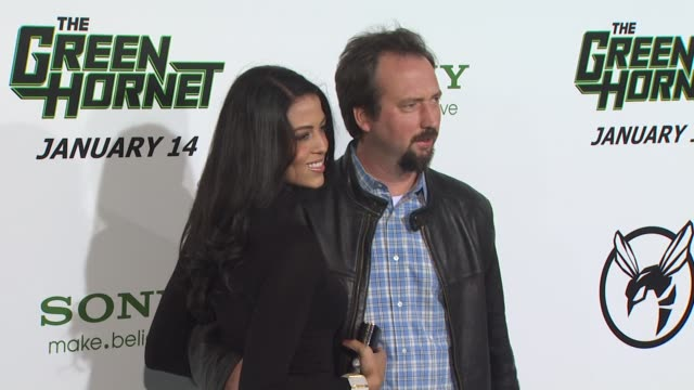 tom green at the 'the green hornet' premiere at hollywood ca. - トム グリーン点の映像素材/bロール