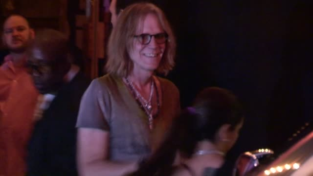 tom hamilton departs aerosmith concert after party at pink taco in at celebrity sightings in los angeles tom hamilton departs aerosmith concert after... - エアロスミス点の映像素材/bロール