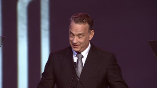 SPEECH Tom Hanks accepting an award at the 25th Annual Palm Springs International Film Festival Awards Gala Presented By Cartier in Palm Springs CA...