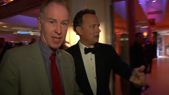 tom hanks and john mcenroe at the inside the vanity fair oscar party 2010 at west hollywood ca - oscar party stock videos & royalty-free footage