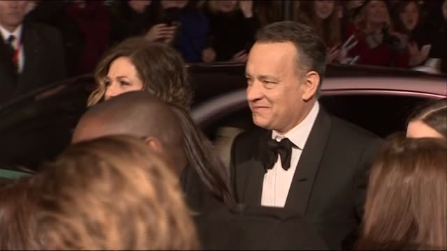 Tom Hanks and Rita Wilson arrive at the BAFTAs 2014