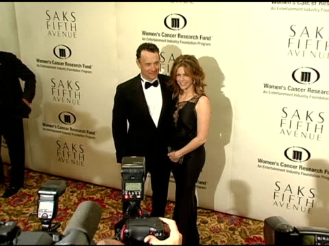 tom hanks and rita wilson at the 2005 courage award given to lance armstrong at saks fifth avenue's unforgettable evening at the regent beverly... - regent beverly wilshire hotel stock videos & royalty-free footage