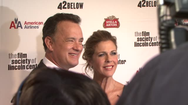 Tom Hanks and Rita Wilson at the Film Society Of Lincoln Center's 36th Gala Tribute Honoring Tom Hanks at New York NY