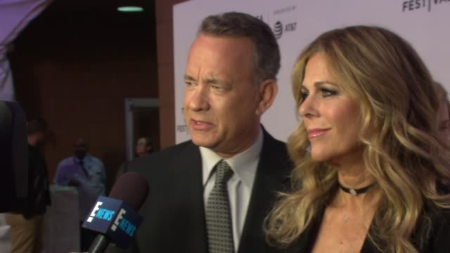 Tom Hanks and Rita Wilson at The World Premiere of 'The Circle' at the 2017 Tribeca Film Festival at BMCC Tribeca PAC on April 26 2017 in New York...