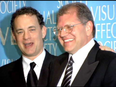 Tom Hanks and Robert Zemeckis at the 3rd Annual Visual Effects Society Awards at Hollywood Palladium in Hollywood California on February 16 2005