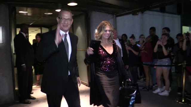 Tom Hanks and wife Rita Wilson at Tom Ford Fashion Show in New York New York City NY USA on Wednesday September 7 2016