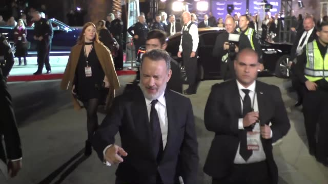 Tom Hanks arriving to the Palm Springs International Film Festival Film Awards Gala in Palm Springs in Celebrity Sightings in Los Angeles