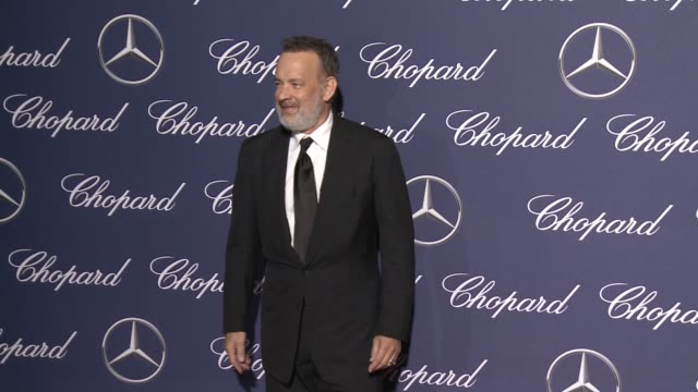 tom hanks at 28th annual palm springs international film festival awards gala in los angeles, ca 1/2/17 - tom hanks stock videos & royalty-free footage