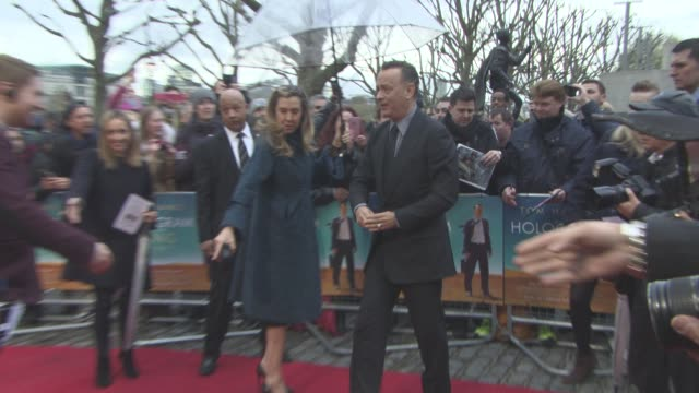 tom hanks at 'a hologram for the king' uk film premiere at bfi southbank on april 25, 2016 in london, england. - bfi southbank stock videos & royalty-free footage