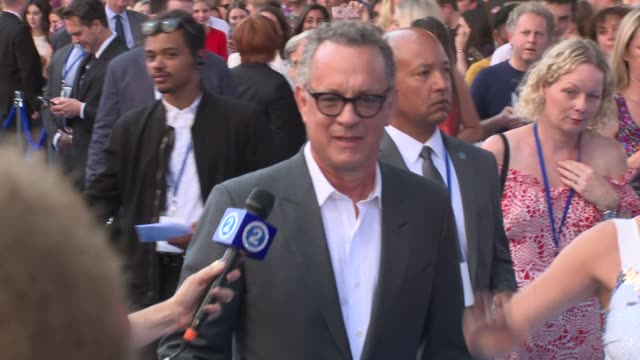 tom hanks at eventim apollo, hammersmith on july 16, 2018 in london, england. - tom hanks stock videos & royalty-free footage