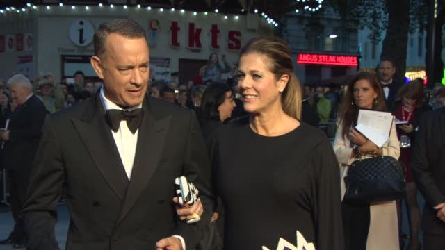 Tom Hanks at Opening Ceremony 'Captain Phillips' Red Carpet at Odeon Leicester Square on October 9 2013 in London England