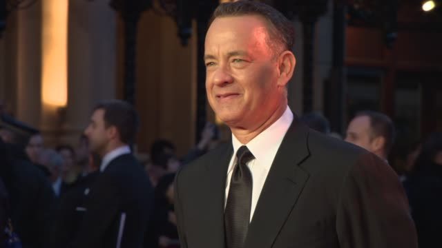 Tom Hanks at 'Saving Mr Banks' Red Carpet at Odeon at Odeon Leicester Square on October 20 2013 in London England