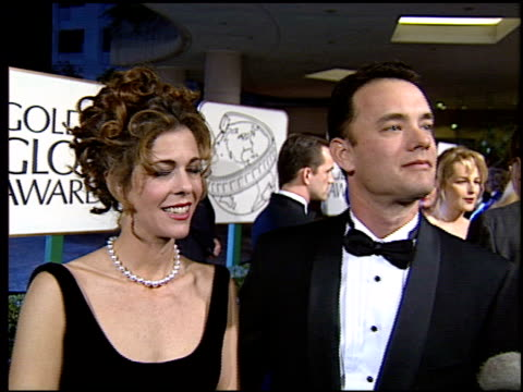 Tom Hanks at the 1994 Golden Globe Awards at the Beverly Hilton in Beverly Hills California on January 22 1994