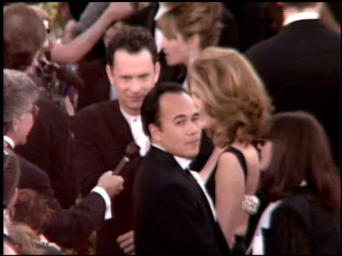 tom hanks at the 1995 academy awards arrivals at the shrine auditorium in los angeles california on march 27 1995 - 67th annual academy awards stock videos & royalty-free footage