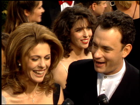 tom hanks at the 1995 academy awards arrivals at the shrine auditorium in los angeles, california on march 27, 1995. - academy awards video stock e b–roll
