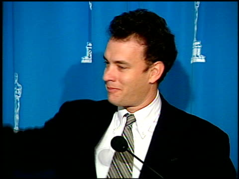 tom hanks at the 1995 academy awards luncheon at the beverly hilton in beverly hills california on march 14 1995 - 1995 stock-videos und b-roll-filmmaterial