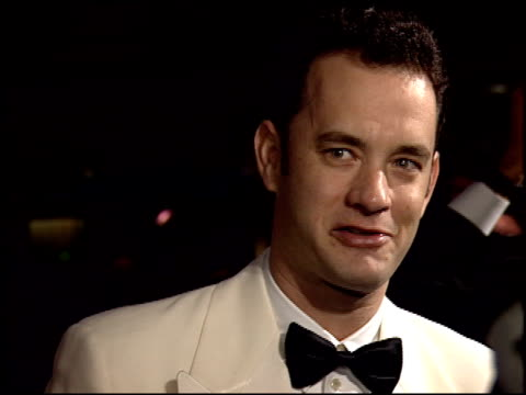 tom hanks at the 1995 golden globe awards at the beverly hilton in beverly hills california on january 21 1995 - golden globe awards stock videos & royalty-free footage