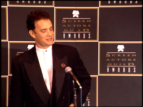 Tom Hanks at the 1995 Screen Actors Guild SAG Awards at Universal Studios in Universal City California on February 25 1995