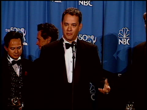 Tom Hanks at the 1998 Emmy Awards press room at the Shrine Auditorium in Los Angeles California on September 13 1998