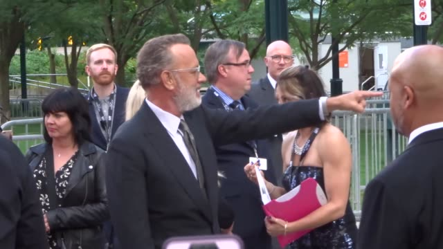 tom hanks at the 2019 toronto international film festival at celebrity sightings in toronto on september 07, 2019 in toronto, canada. - tom hanks stock videos & royalty-free footage