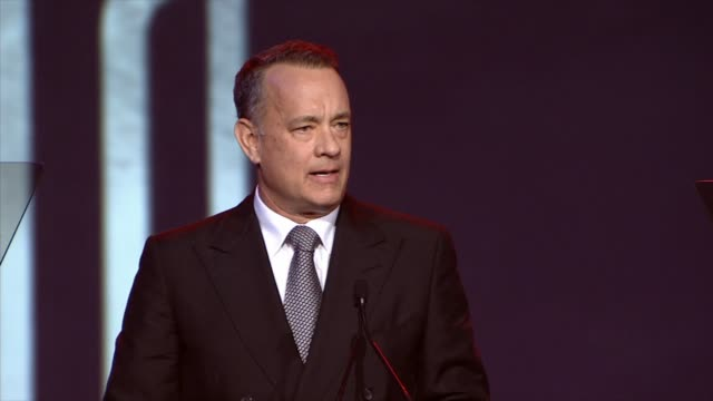 SPEECH Tom Hanks at the 25th Annual Palm Springs International Film Festival Awards Gala Presented By Cartier in Palm Springs CA on 1/04/14