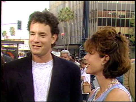 Tom Hanks at the 'A League of Their Own' Premiere at Academy Theater in Beverly Hills California on June 22 1992